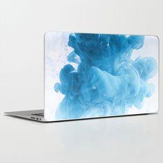 cyan ink Laptop & iPad Skin by photoplace Laptop Skin, Ipad