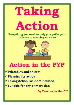 This is an essential pack for anyone teaching inquiry in the PYP. Taking Action is one of the 5 essential elements of the PYP and using this pack will help to guide students of an age to take meaningful action. This can also be used in preparing students for their Exhibition – the Action Unit. It is suitable for any age from 4 - 13.