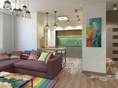 Яркие, сочные цвета в интерьере поднимают настроение даже в серые будни!