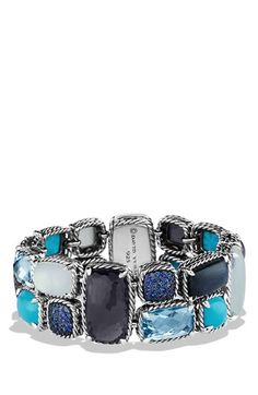 David Yurman 'Mosaic - Chatelaine' Bracelet with Semiprecious Stones available at #Nordstrom