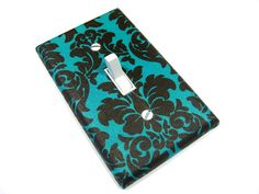 Light Switch Cover Teal Blue and Brown Damask by ModernSwitch, $6.00