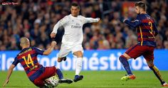 PETE JENSON AT THE NOU CAMP: Cristiano Ronaldo won the Clasico for Real Madrid as Barcelona lost their first game in 40 matches despite Sergio Ramos's red card late on. Barcelona Vs Real Madrid, Fc Barcelona, Sergio Ramos Red Card, Real Madrid Highlights, Real Madrid Players, Latest World News, Camp Nou, Lionel Messi, Bavaria