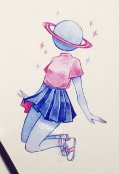 Saturno Aesthetic Drawing, Aesthetic Art, Pretty Art, Cute Art, Character Drawing, Character Design, Object Heads, Pretty Drawings, Country Art
