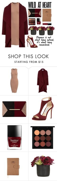 """""""Wild At Heart"""" by tsioneambaw ❤ liked on Polyvore featuring NLY Trend, Harris Wharf London, Dune, Jimmy Choo, MAC Cosmetics and Chanel"""