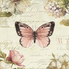 Marche de Fleurs Butterfly I Fine-Art Print by Lisa Audit at UrbanLoftArt.com