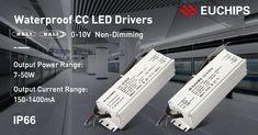 Waterproof LED Drivers have become the first choice for outdoor lighting all around the world. You may remember that we have released waterproof CV drivers in the past, and today we are delighted to present to you the Euchips' waterproof CC drivers, including DALI, 0/1-10V, non-dimmable Series, the output power range is 7-50W, the output current range is 150-1400mA, the waterproof grade is IP66. #Euchips #Waterproof sales@euchips.com