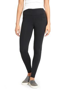 Already have- black high waist legging with pant seams. I like how this lays flat at the waist versus jeans.
