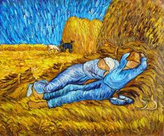 Afternoon Siesta -Vincent van Gogh Reproduction -  Oil on Canvas Hand Painted