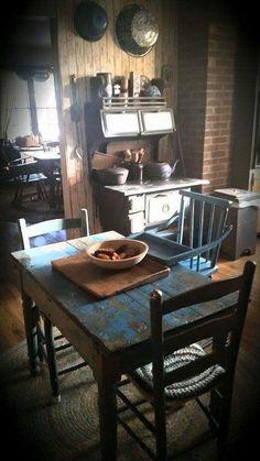 primitive kitchen - Primitive Kitchen Tables