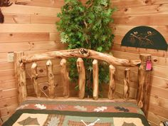 The gorgeous knots in the headboard bring out the North Woods rustic feel for which Colorado Aspen is known.    http://www.timbercreekfurniture.com/
