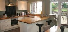 knocked through kitchen and dining room