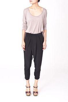 Diana silk trousers, Black.