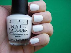 I love the cleanness of white polish.