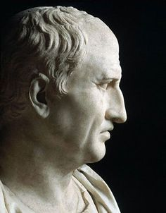 Cicero. Detail. Marble. 1st century BCE. Rome, Capitoline Museums, Palazzo Nuovo, Hall of the Philosophers