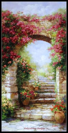 Fantasy Landscape, Landscape Art, Landscape Paintings, Fantasy Art, Renaissance Paintings, Renaissance Art, Beautiful Paintings, Beautiful Landscapes, Nature Aesthetic