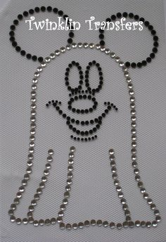 mickey ghost rhinestone iron on transfer disney halloweeniron