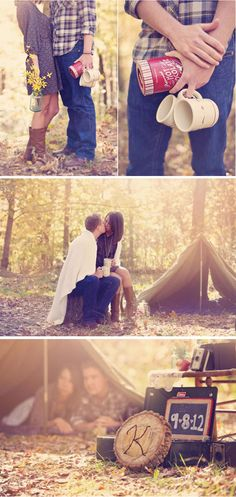 taking pictures of the couple doing their favorite activities.... <3