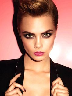 Glamour Girls...Simply Fabulous Cara in gorgeous glamour make-up....beauty and cosmetics (makeup)