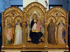 Thronende Maria mit Kind und den Heiligen Katharina von Ale