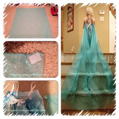 DIY Elsa Inspired Dress - How Do You Make The Cape #elsa #frozen #disney #costume