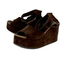 Pedro Garcia Brown Suede Wedges