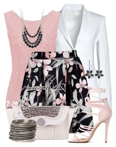 """""""Pastels & Dark Floral"""" by jennifernoriega ❤ liked on Polyvore featuring Canvas by Lands' End and Amrita Singh"""