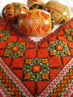 Ukrainian Easter Eggs and Embroidery