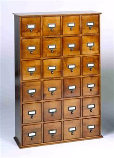 Leslie Dame - Library Card Catalog Style Multimedia Storage Cabinet
