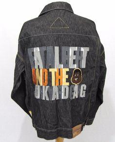 FUBU Platinum Jean Jacket XXL Fat Albert Junkyard Gang Raw Denim RARE Heavy Coat #FUBU #JeanJacket