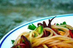 louilicious.com //pasta, squid + marcona almonds