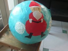 Santa n Snowflake Pinata made by Special Needs kids