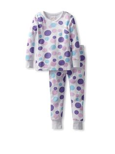 46% OFF Agabang Organics Kid's 2-piece Organic Cotton Pajama Set (Scatterin Dots Lavender)