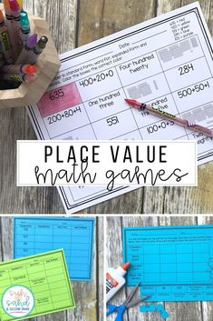 These place value activities will be so fun for your second grade students! Included you'll find 12 practice worksheets, hands on puzzles, and a partner BUMP game. These are awesome for small group, independent practice, math centers, early finishers, homework, morning work, and more! They involve 3 digit numbers (hundreds), and will allow plenty of practice with standard, expanded, and word form. (2nd, 3rd grade)