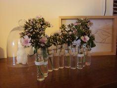 Un vase à réaliser soi-même, guirlande de tubes à essai de ...
