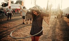 hula hooping at Glastonbury - the largest music festival in the world. #FestivalGoing