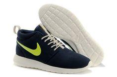 2286bcdbe208 Roshe Run Mid Suede Olympische Spelen in Londen Nike Damesschoenen  Goedkoper Online Te Koop  Marine