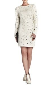 Jillea Embroidered Cutout Faux-Leather Dress   Hukkster