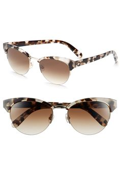 Classy Kate Spade cat eye sunglasses in speckled tortoise.