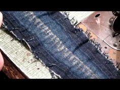 Как сделать имитацию потертости на джинсах - YouTube