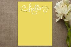 Here Comes Sunshine Personalized Stationery by Jennifer Wick at minted.com