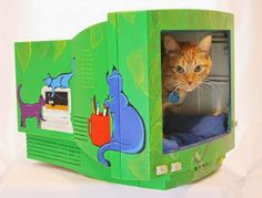 Camas para Gatos con Materiales Reciclados
