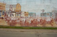 Worth--mural ryon's - Northwest Street at North Main Fort Worth, North West, Murals, Dallas, Maine, Places To Visit, Texas, Street, Painting