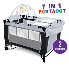 Travel Port-a-cot - $139 from my deal - colour is gender neutral