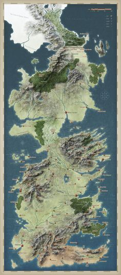 Map of Westeros - Game of Thrones