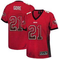 nike nfl jersey Nike Vernon Davis Red Team Color Women s Embroidered NFL  Elite Drift Fashion Jersey nfl jersey by nike 09303c738