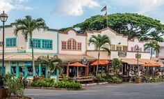 Downtown of Hale´iwa, North Shore, Oahu Island, Hawaii
