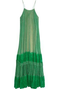 Stella McCartney | Lace-paneled printed silk-blend georgette gown | NET-A-PORTER.COM