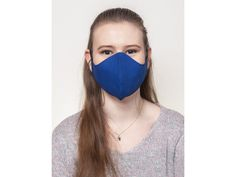 Ochranné textilné rúškó vhodné na opakované použitie. Farba: Modrá Beauty, Beauty Illustration