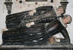 Memorial for Elizabeth Brockett (d.1612) and her mother, St. Etheldreda's, Hatfield
