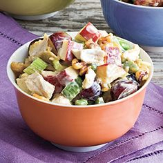 Grapes, apples, walnuts, and celery pack this salad with both crunch and fresh, fruity flavor.Recipe:Waldorf Chicken Salad